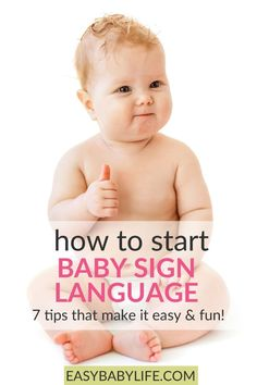 Baby sign language tips! I tried this when my baby was 8 months old. Lots of fun! Here are my tips to get started! Signing with baby, teaching baby sign, baby sign language, baby activities, toddler sign language