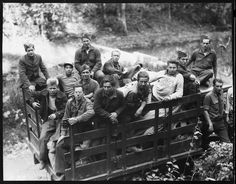 Group of CCC boys from Idaho just arrived in camp near Andersonville, Tennessee, October 1933