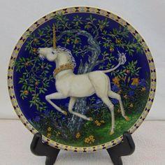 Unicorns In Dreamer's Garden The Taste of Sweetness Plate Hutschenreuther