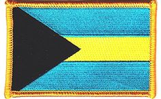 "[Single Count] Custom and Unique (3 1/2"" x 2 1/4"") Flag of the Bahamas Iron On Embroidered Applique Patch {Teal, Yellow and Black Colors} myLife Brand Products http://www.amazon.com/dp/B011AJNREK/ref=cm_sw_r_pi_dp_hdAPvb169179C"