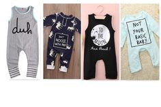 $10.99 trendy graphic rompers for trendy baby boys and girls! A great stocking stuffer idea for your little ones.