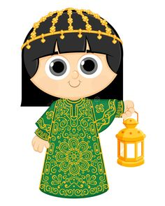 Illustration about Happy Ramadan , Ramadan is the ninth month of the Muslim calendar , Little Girl Wearing Traditional Dress and Holding Ramadan Lantern. Illustration of happy, arabia, card - 65078076 Ramadan Kareem Pictures, Ramadan Photos, Ramadan Cards, Ramadan Gifts, Eid Boxes, Dossier Photo, Eid Stickers, Ramadan Lantern, Eid Crafts