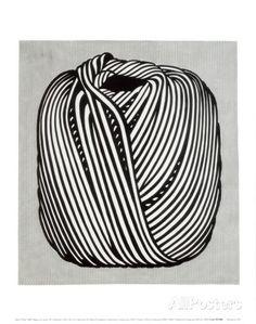 Ball of Twine, 1963 (serigraph) Art par Roy Lichtenstein sur AllPosters.fr