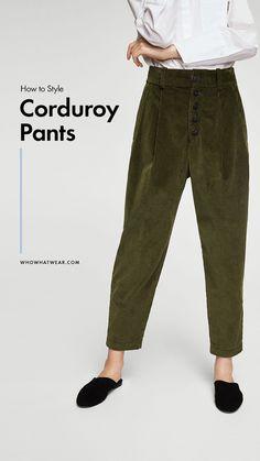 How to wear corduroy pants