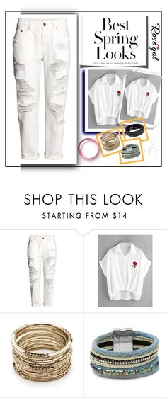 """""""Rosegal"""" by olovka ❤ liked on Polyvore featuring H&M, Sole Society, Design Lab and Swarovski"""