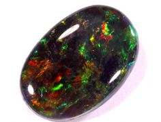 1.20 CTS LIGHTNING RIDGE BLACK OPAL  [Z25]  SOLID BLACK OPAL, MULTI COLOR AUSTRALIAN OPAL GEMSTONE,OPAL FROM AUSTRALIA