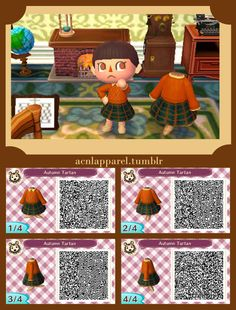 acnlapparel: I am so ready for the cold, autumn nights, in real life and in Animal Crossing. I love a cableknit jumper so I paired it with a cute tartan skirt. Enjoy!