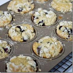 Brown Butter Blueberry Muffins with Crumb Topping