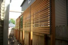 Custom clear cedar screen and fence