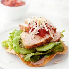 Kiwi Chicken Tostada (and other kiwi recipes)