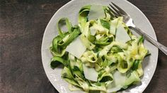 Raw Zucchini Salad with Lemon and Parmesan