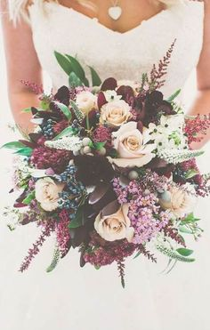 Wedding bouquet is an important part of the bridal look. Looking for wedding bouquet ideas? Check the post for bridal bouquet photos! Fall Wedding Bouquets, Floral Wedding, Trendy Wedding, Wedding Rustic, Bridal Bouquets, Wedding 2017, Dream Wedding, Burgundy Wedding Flowers, Spring Wedding