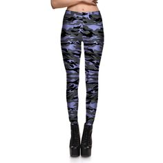 Leggings fashion sexy fitness women leggings new classic gray camouflage pant pencil pants jeggings Plus Size #Affiliate