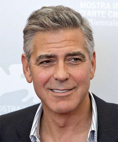 George Clooney Hairstyle - Short Straight Casual -