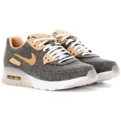Nike Air Max 90 Ultra Sneakers ($170) ❤ liked on Polyvore featuring shoes, sneakers, grey, grey sneakers, nike footwear, gray sneakers, gray shoes and nike
