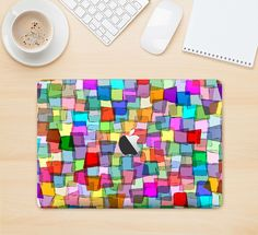 """The Vibrant Colored Abstract Cubes Skin Kit for the 12"""" Apple MacBook from DesignSkinz"""