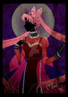 """Black Lady (in the style of """"Sailor Moon Crystal"""" title credits opening)"""
