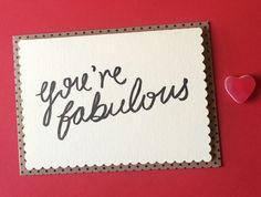 You're Fabulous Card