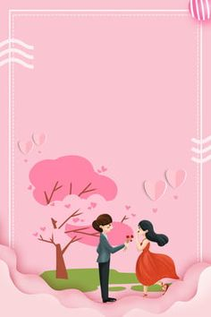 Valentines Day The Giving Tree Paper Cut Couple Red Love Valentines Day Border, Valentines Day Couple, Valentines Day Background, Birthday Background, New Years Background, Background Pictures, Paper Background, Graphic Wallpaper, Love Wallpaper