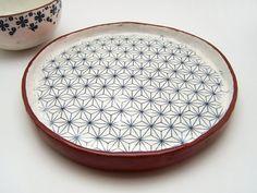 Tapas Plate Ceramic Plate Vintage Look Floral by susansimonini