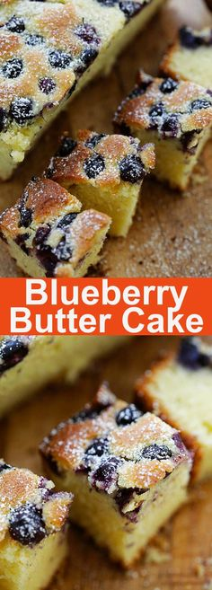 Blueberry Butter Cake - the best butter cake ever. Love the fresh blueberries and powdered sugar, so decadent and yummy | rasamalaysia.com