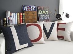 Love throw pillow covers wedding gifts for newlyweds