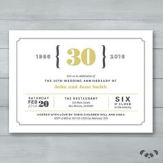 Anniversary shimmery white 7 business invitation anniversaries anniversary party invitation wedding anniversary party invitation anniversary invite 30th anniverary invitation stopboris Images