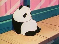 Image about anime in Pandas 💕🐼 by Dani Acevedo Old Anime, Manga Anime, Anime Art, Panda Love, Cute Panda, Psychedelic Art, Totoro, Anime Gifs, Panda Art