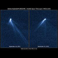 NASA's Hubble Sees Asteroid Spout Six Comet-like Tails