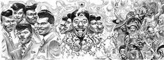 Hip Hop  Art of Dan Lish via: CrossConnectMag