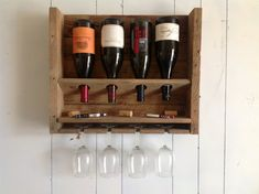 Free Shipping - Simplistic - reclaimed wood wine rack - weathered oak on Etsy, $68.00