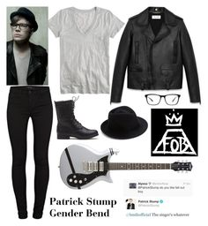 """Patrick Stump Gender Bend"" by samantha-hannum ❤ liked on Polyvore featuring J.Crew, Yves Saint Laurent, J Brand, Eugenia Kim and Joseph Marc"