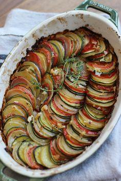 Tian de légumes (Courgettes, tomates, pommes de terre, oignons) : easy easy !