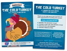 Will you go Cold Turkey on the Great American Smokeout? #GASO