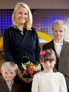 Crown Princess Mette Marit with Sverre Magnus, Ingrid and Marius
