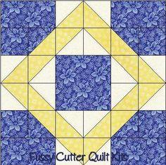 nine block quilt patterns   Scrappy Fabric 9 Patch Pattern Easy Pre-Cut Quilt Blocks Kit