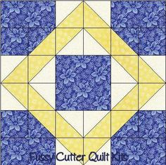 nine block quilt patterns | Scrappy Fabric 9 Patch Pattern Easy Pre-Cut Quilt Blocks Kit
