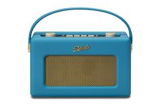 Bold colour  turquoise marine real Robert revival DAB radio. Perfect to make a statement in a room with neutral decoration. Retro vintage radio.