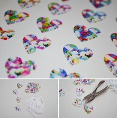 Take these shrink dink charms and either attach them to something in a pattern, make a necklace, or use in a multimedia piece.