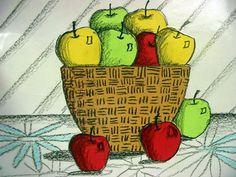Apple and basket still life