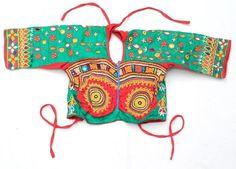 RABARI BANJARA TRIBAL ETHNIC KUCHI BELLY DANCE OLD INDIAN CHOLI TOP ATS