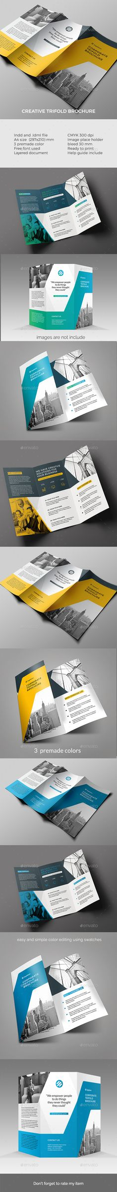 Trifold Brochure Template InDesign INDD. Download here: http://graphicriver.net/item/trifold-brochure-/16442772?ref=ksioks