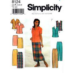 Womens Blouse Wrap Skirt & Pants Pattern by finickypatternshop, $8.45