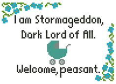 Stormageddon: Doctor Who Baby Cross-Stitch par IStitchForTheUsers