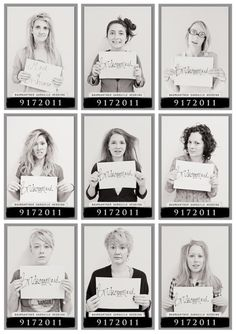 Mugshots! Yep, I'm going to make them do this when/if it happens. Only difference is that I'll be in it and they'll be in their dresses.