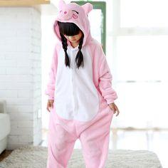 468d53e85c Pink Pig Overalls Jumpsuit Kids Pijama Pockets Children Cosplay Costume  Kigurumi Onesie Blanket Sleepers Pajama Hips With Zipper