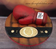 Boxing Glove Cake - Cake by The Crafty Kitchen - Sarah Garland: Boxing Glove Cake - Cake by The Crafty Kitchen - Sarah Garland Mini Cakes, Cupcake Cakes, Cupcakes, Boxing Gloves Cake, 30 Cake, Gravity Defying Cake, Cake Pictures, Cake Pics, Sport Cakes
