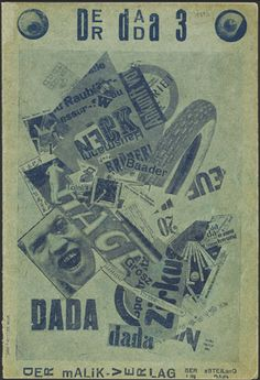 John Heartfield - The Tire Travels around the World / From Der Dada (1920), no. 3, cover