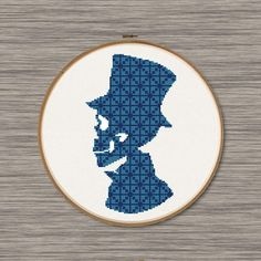 Gentleman Skull PDF Cross Stitch Pattern