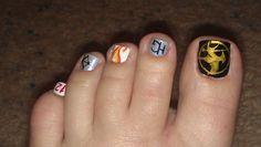 Hunger Games nail art #hungergames #nailart